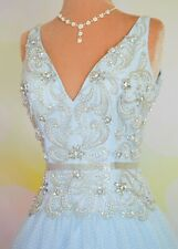 MAC DUGGAL AQUA BALL GOWN EVENING HOMECOMING PAGEANT PROM QUINCE GOWN DRESS 8