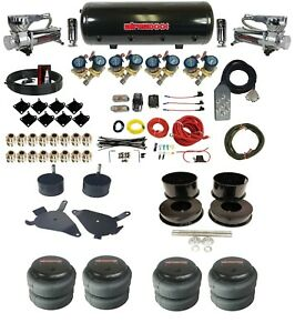 """82-88 Chevy G-Body Complete 3/8"""" Fast Valve Air Ride Suspension Kit 8 Gal Tank"""