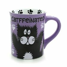 Our Name is Mud Catffeinated Coffee Mug Gift Box Purple Cat Pet Person