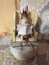 New ListingVintage Schmid Beatrix Potter Rabbit Wind Up Music Box Gentleman in waiting 1982