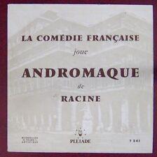 Racine 33 Tours 25cm Andromaque La Pléïade