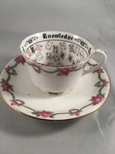 Aynsley Fortune Telling Cup of Knowledge Duo - 1924 Wembley Exhibition Souvenir