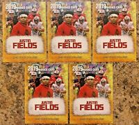 (5) 2019 Justin Fields Ohio State Cracked Ice Gold Rookie Limited College Card.