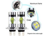 COB H7 LED 110W 6000K Ampoules Auto Voiture Kit Feux Phare Lampe Xénon Blanc 2x