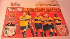 A COLLECTION OF 8 ARSENAL OFFICIAL PHOTOGRAPHS 1997/98 SEASON+ORIGINAL ENVELOPE