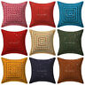 Mirror Embroidered Decorative Pillow Cushion Throw Cover Bohemian Boho Pillows