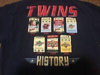 Minnesota Twins History Large T Shirt MLB Majestic