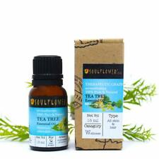 Soulflower Tea Tree Essential Oil, 15ml Undiluted, 100% Natural From -UK