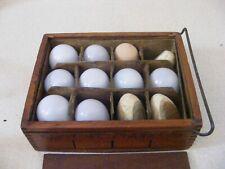 Vintage Hand-Blown Glass Eggs In Original Case