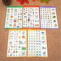 5 Sheet Cute Paper Sticker Photo Album Scrapbook Calendar Diary Planner Stickers