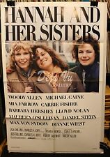 "Hannah and Her Sisters Original Movie Poster (1986) 27"" x 41"" FINE"