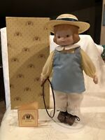 """Memories of  Yesterday  """"HILARY"""" Limited Edition Porcelain Doll 12"""" NIB Vintage"""