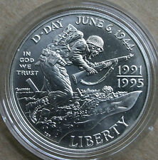 1993 D World War Ii Bu Commemorative Silver One Dollar Us Mint Ww2 Coin Only