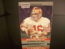Rare Joe Montana Pro Set 1990 Card #16 San Francisco 49ers NFL Football