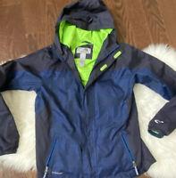 Champion C9 Target Boys 12-14 L Venture Dry  Windbreaker Jacket Blue Neon Green