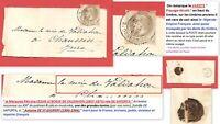 Timbre 1867 Empire Lauré N°27 T.I sous bande: à Marquise DE VALDAHON, cote: 435€