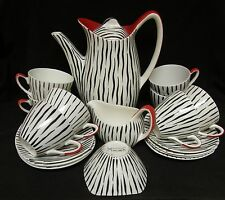 VINTAGE/RETRO Iconic Midwinter Zambesi coffee set for eight ~ Jessie Tait