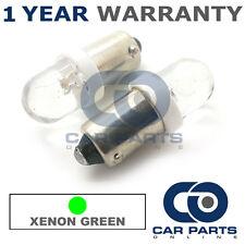 2x XENON verde BA9S T4W 233 LUCI DI POSIZIONE Upgrade TESTATA LAMPADINE LED