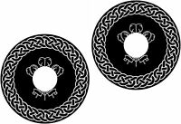 Wheelchair Spoke Guard Skins Celtic Knot Mobility Sticker 1208