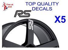 5 X Pegatina de calcomanías de Rueda de Aleación RS