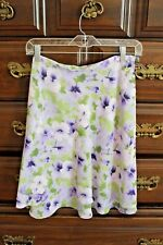 Womens TAILOR by B Moss Lavender Purple Floral Skirt 4