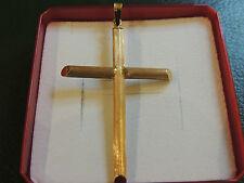 Croix or brossé importante