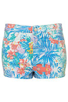 Topshop Moto Tropical Print High Waisted Hotpants UK 10 EURO 38 US 6 RRP £34