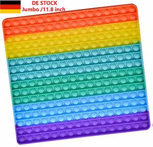 Rainbow Jumbo 30cm Push Pop its Fidget Bubble Toy für Kinder Anti Stress Tiktok