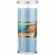 Yankee Candle Riviera Escape Large Pillar Tumbler Blue Fresh Scent