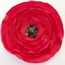 Unique Red  Poppy Brooch