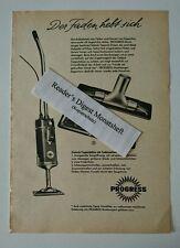 Werbeanzeige/advertisement A5: Progress Staubsauger Teppichdüse 1958 (170716311)