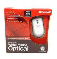 Microsoft Wheel Mouse Optical - PC / MAC - USB Designed for Right or Left Hand