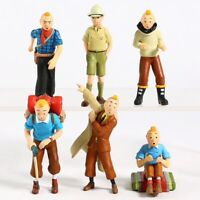 LOT DE 6 FIGURINES TINTIN JOUET COLLECTION 5 à 8 cm