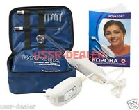 VIOLET RAY WAND D'ARSONVAL CORONA SKIN CARE HIGH FREQUENCY UNIT IN CASE 110V