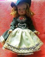 Vintage German Germany Celluloid Doll Souvenir Folk Costume 9 inches