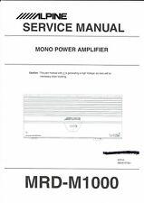 Alpine  Service Manual  für MRD- M 1000 englisch