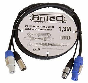 Briteq Neutrik Kombikabel für Strom & DMX PowerCon XLR PA verschiedene Längen