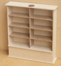 1:12 Flat Pack MDF Wooden Double Shelf Unit Dolls House Miniature Furniture Shop