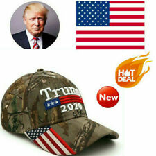 Donald Trump 2020 Cap USA Flag Camouflage Baseball America Make Cap Great P6Y2