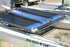 Hobie Cat 16 Trampoline New Black Mesh with Pocket And Blue Tough Wrap