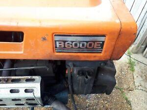kubota tractor B6000E 2 wheel drive with rotovator