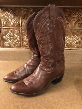 Vintage Tony Lama 2989 Brown Leather Men's Western Cowboy Rodeo Boots 10 D