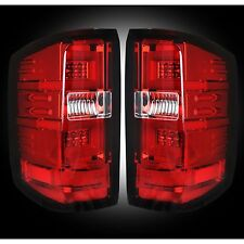 RECON 264297RD Chevy Silverado 16-17 1500 2500 3500 Red Tail Lights LED