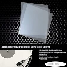 """10 7"""" Inch 450g Gauge Vinyl Single 45rpm Plastic Outer Polythene Record Sleeves"""