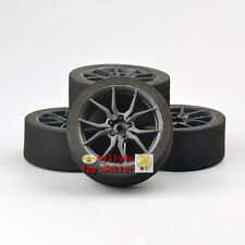 4PCS Competition Foam Tires&Rims 12mm Hex For HSP HPI 1/10 On-road RC Car 23003