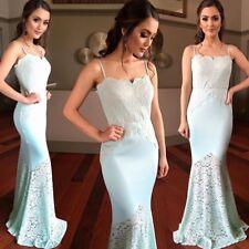 size 14 maxi dress Wedding Formal Bridesmaids Lace Jersey BNWT Ball Evening Mint