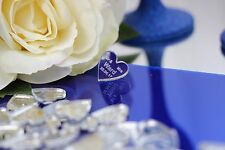 Personalised 4x4cm Heart Acrylic Table Decorations - Wedding Favours