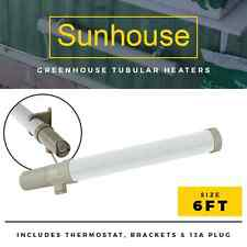 6FT SUNHOUSE THERMOSTAT TUBULAR HEATER 240W | GREENHOUSE/GARAGE/SHED/OUTBUILDING