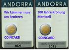 VVK - 2 x 2 Euro Coincard Andorra 2021 ( Meritxell + Senioren )