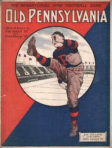 Old Pennsylvania 1923 Sheet Music